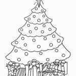 Christmas tree to color
