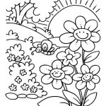 Coloring pages spring flowers