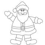 Santa coloring sheet