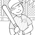 Baseball coloring sheets