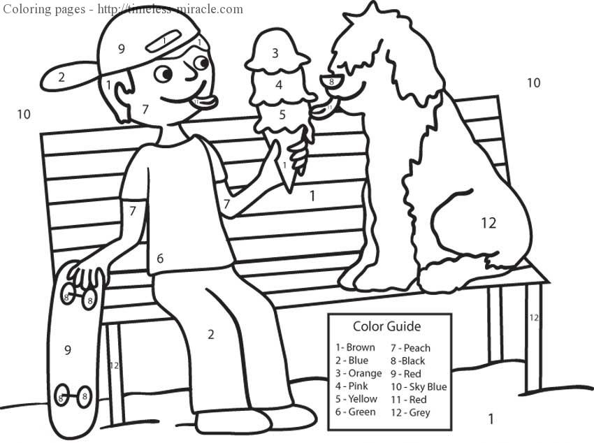 Coloring page by numbers