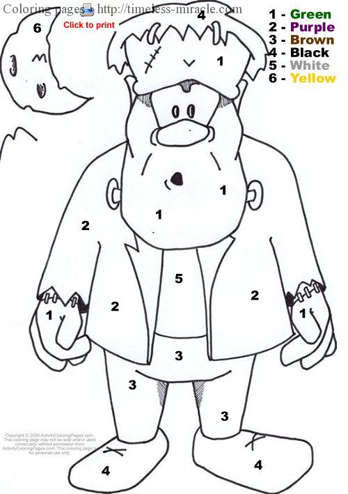 Coloring page color by number Number  coloring page free (printables)