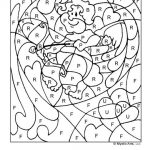 Number coloring sheet