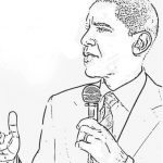 Obama coloring page