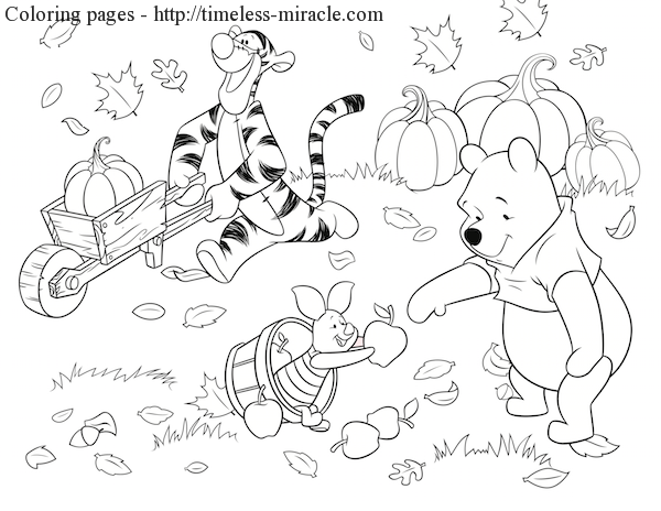 Free disney thanksgiving coloring pages