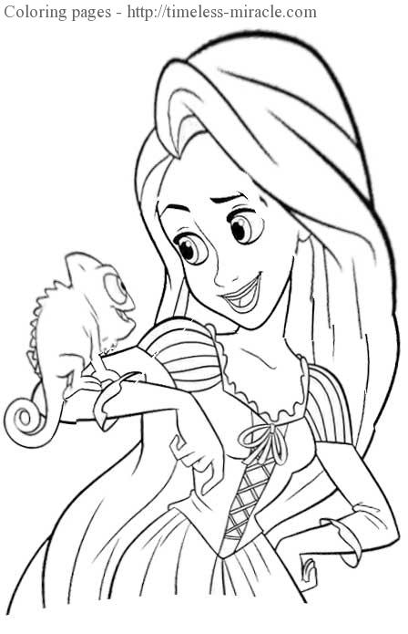Free princess colouring pages