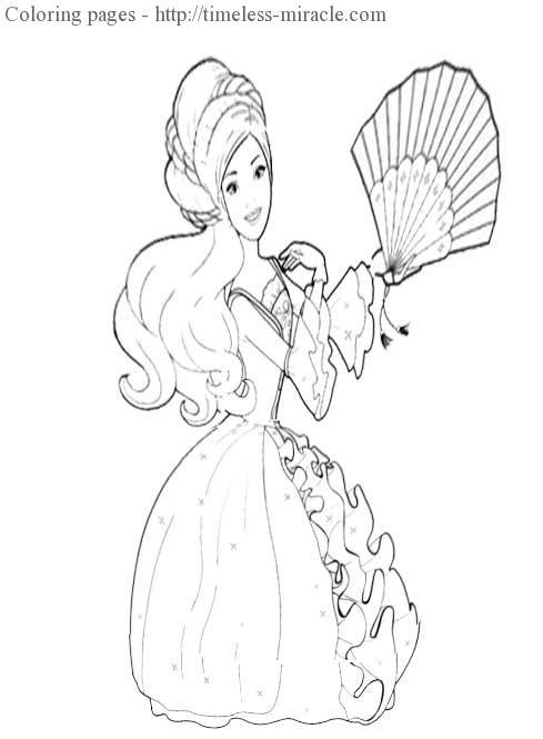 Princess coloring sheet printable free