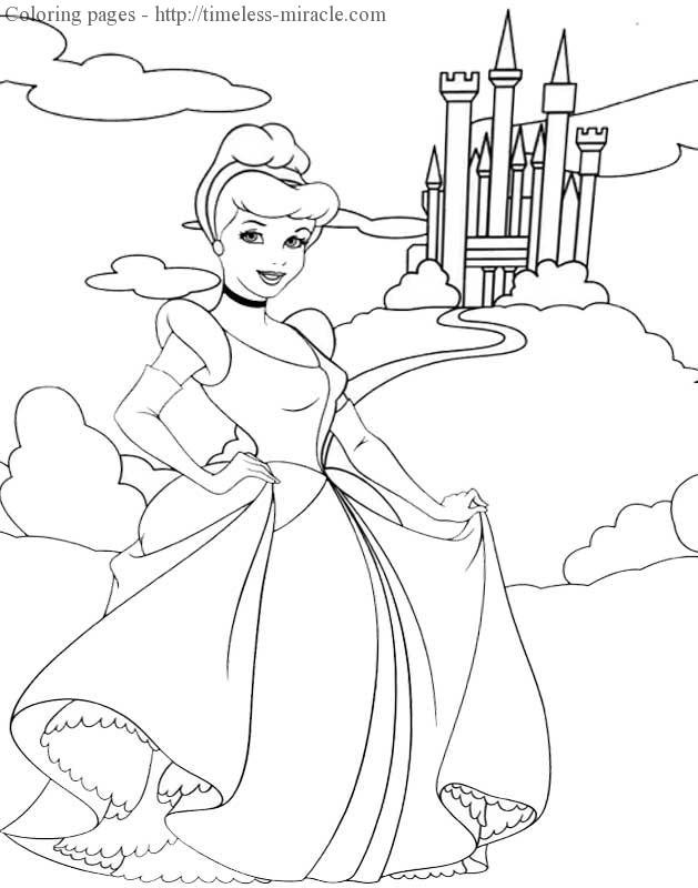 Princess pictures to color Disney  coloring page free (printables)