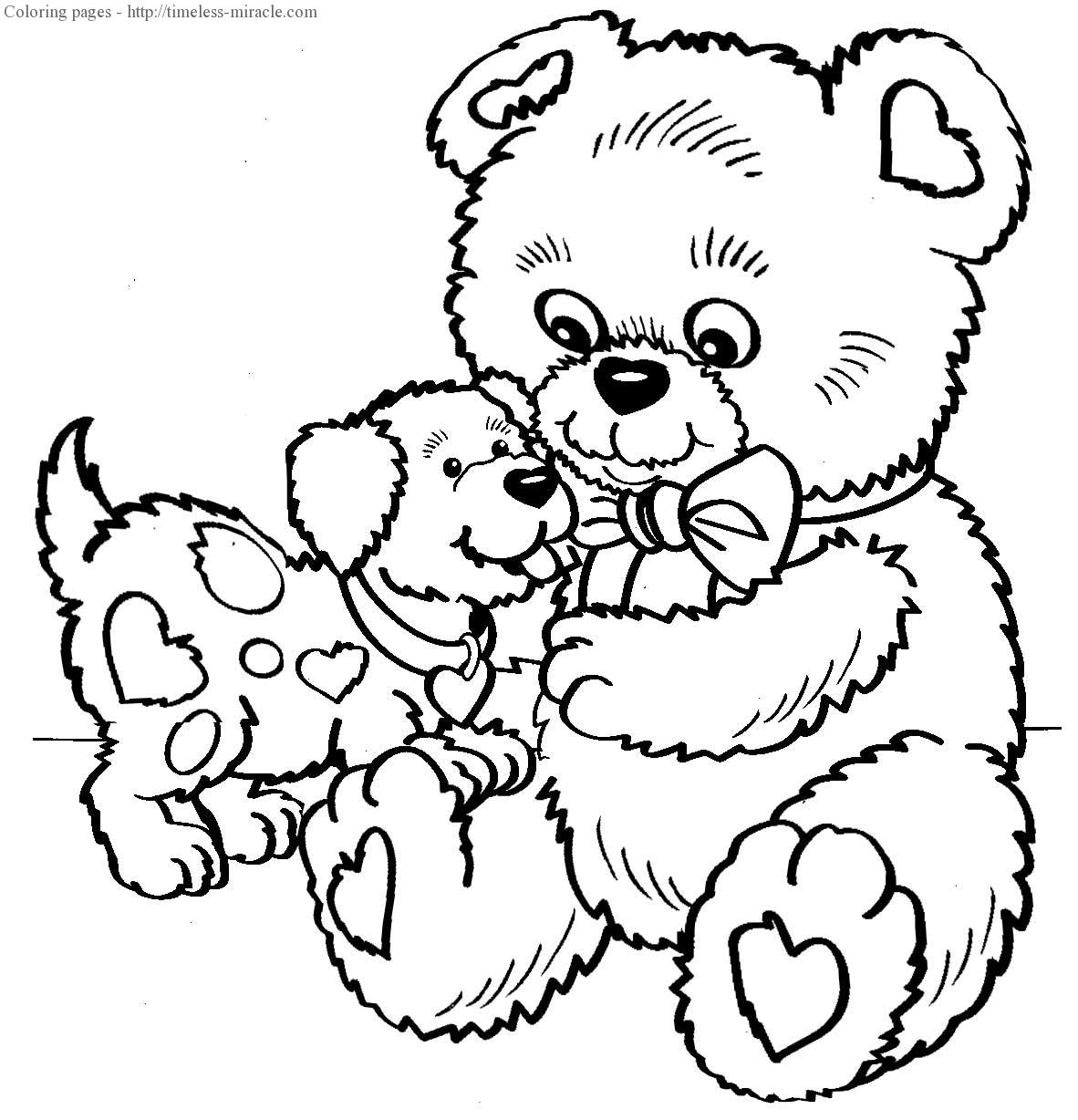 Valentine coloring pages for kids free