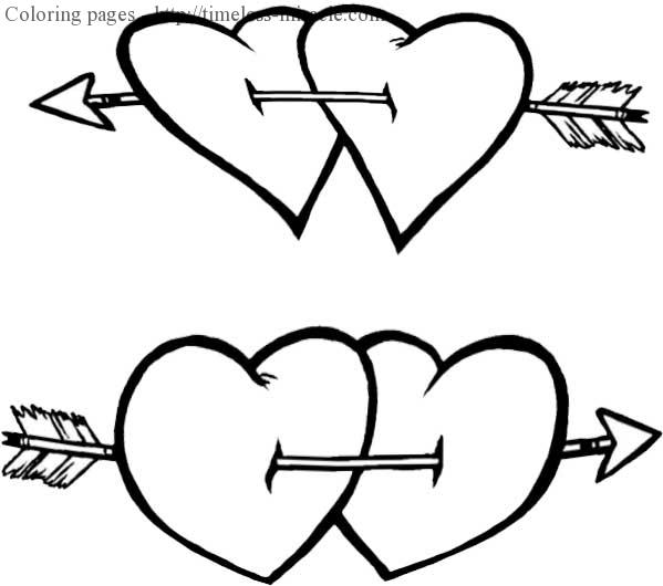 Valentines days coloring pages