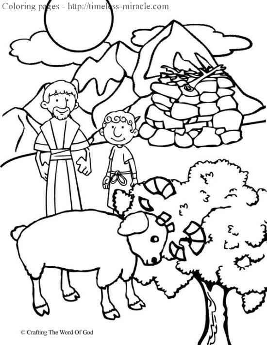 Abraham Coloring Pages | Printable Bible Sheets for Kids | 710x550