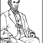 Abraham lincoln colouring pages