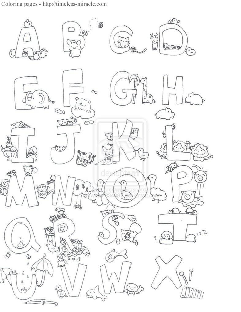 alphabet animal coloring pages  timelessmiracle