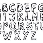 Alphabet printable coloring pages