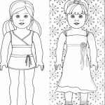 American girl doll coloring page