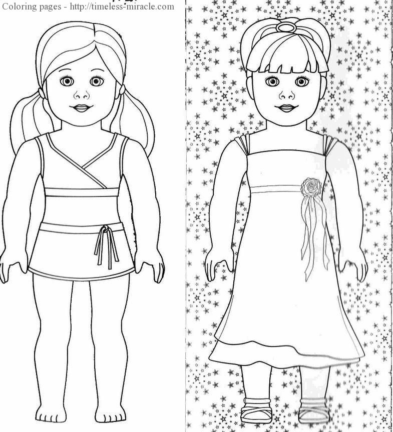 - American Girl Doll Coloring Pages Free - Timeless-miracle.com