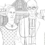American gothic coloring page