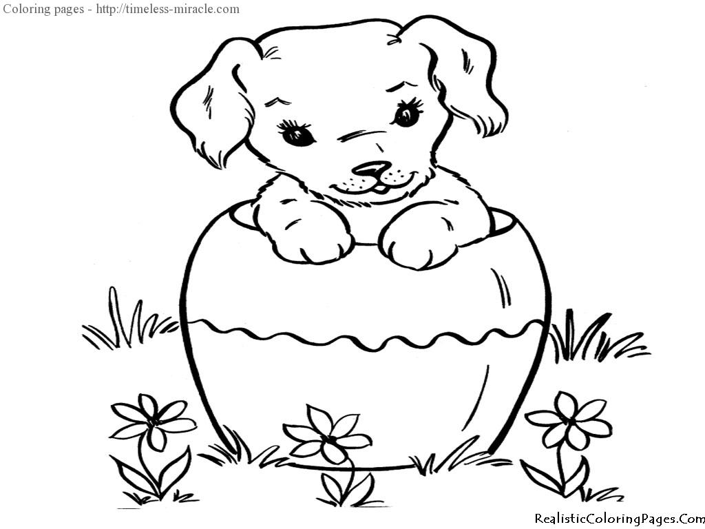 Coloring Pages Baby Dogs