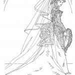 Barbie wedding coloring pages