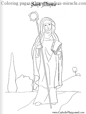 Catholic Saints Coloring Pages Timeless Miracle Com