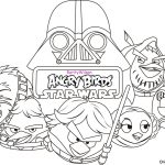 Coloring pages angry birds star wars