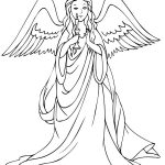 Coloring pages of angels