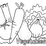 Coloring pages of fruits and vegetables
