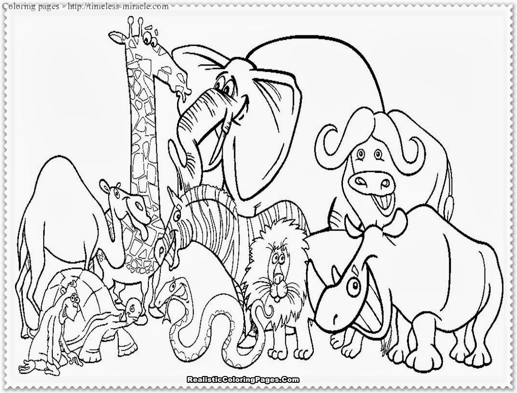 Coloring pages of zoo animals - timeless-miracle.com