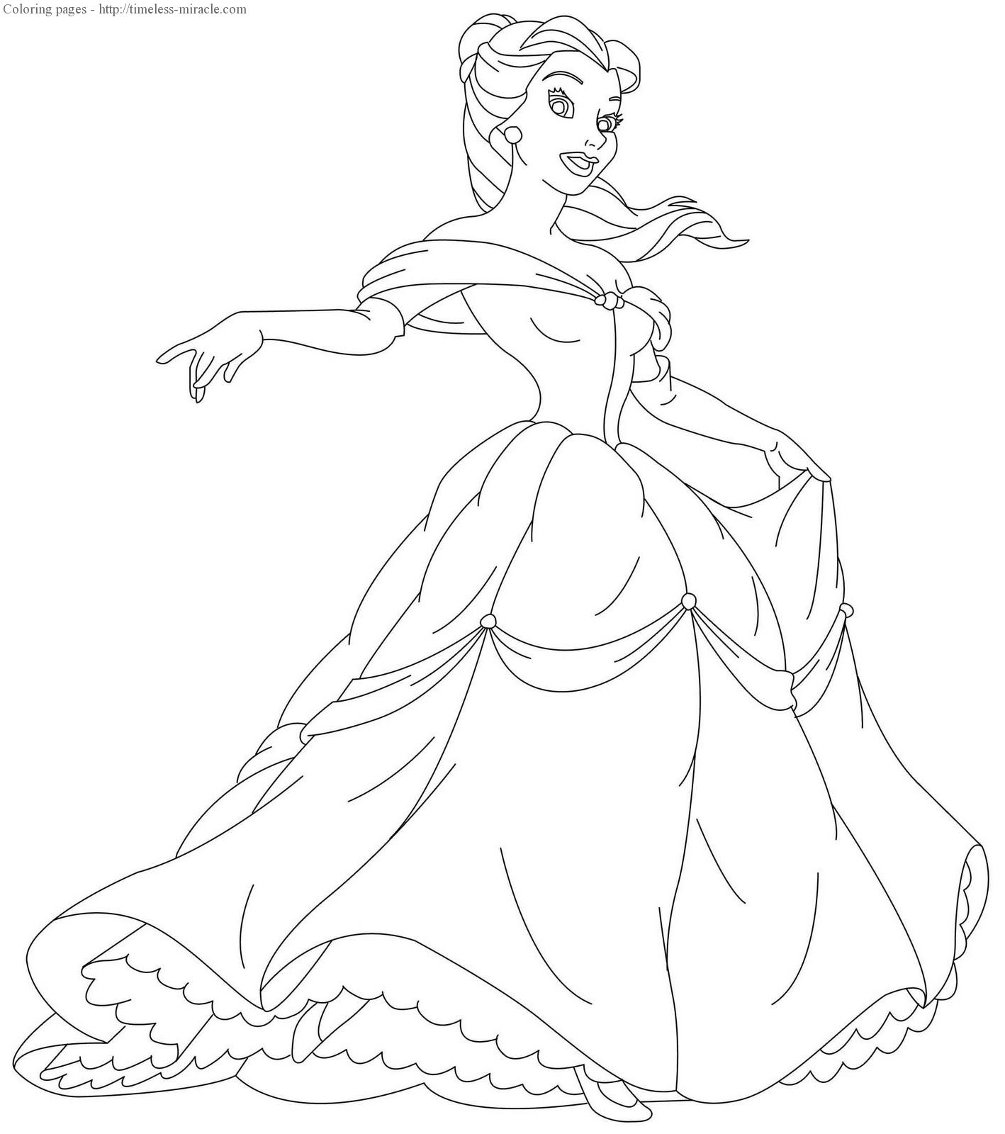 - Disney Princess Colouring Pages Online - Timeless-miracle.com