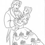 Disney wedding coloring pages