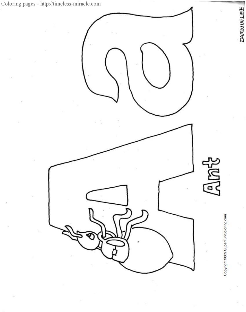 Letters and Alphabet coloring pages | Free Coloring Pages | 1077x850