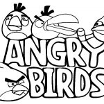 Free printable angry birds coloring pages