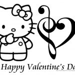 Hello kitty valentines day coloring pages