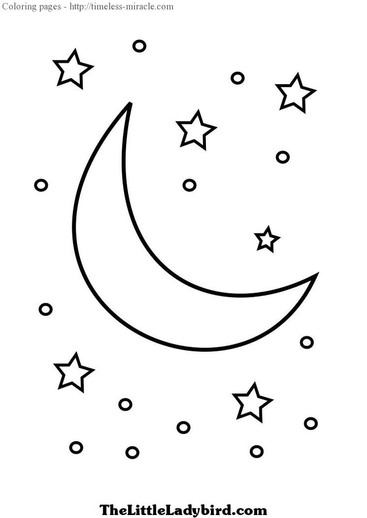 Moon and stars coloring pages - timeless-miracle.com