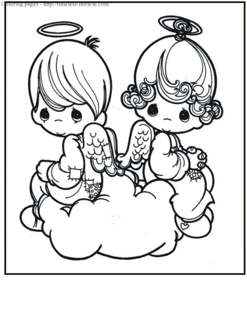 Precious moments angels coloring pages - timeless-miracle.com