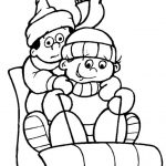 Preschool winter coloring page