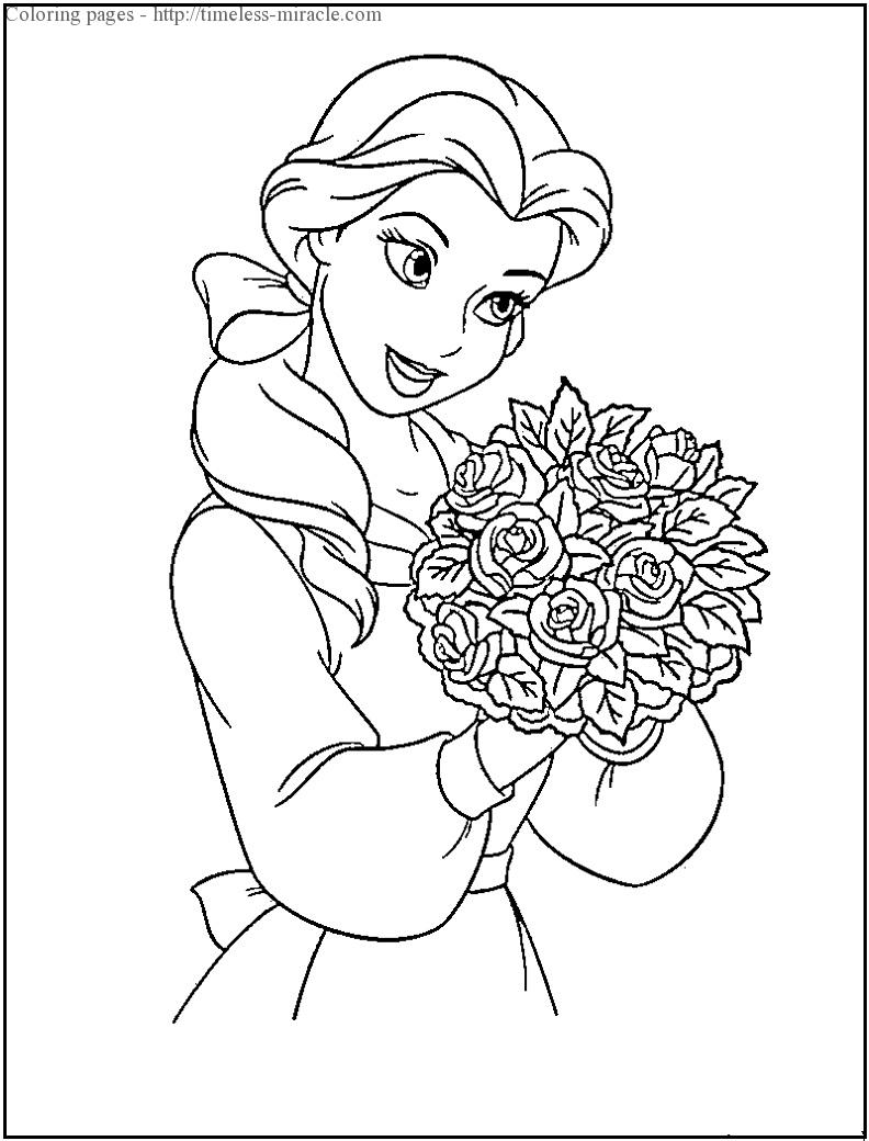 - Princess Disney Coloring Page - Timeless-miracle.com