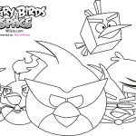 Space angry birds coloring pages