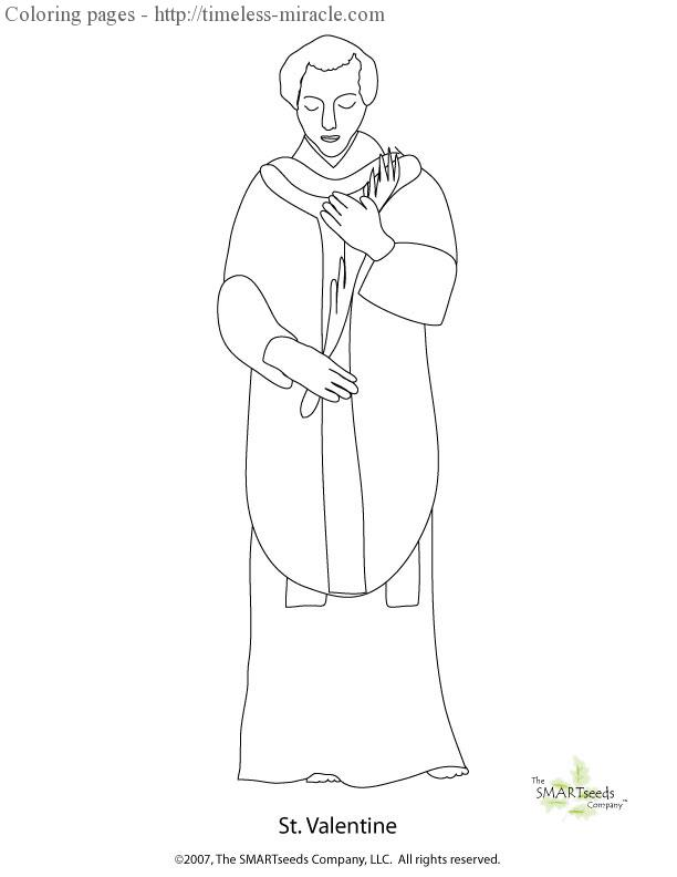 St valentine coloring pages timelessmiracle