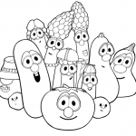 Veggie tales coloring page