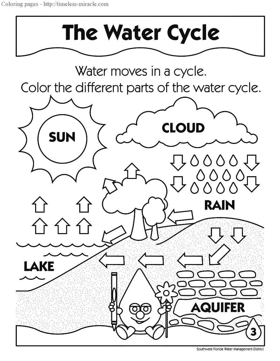 Water Cycle Coloring Page Timeless Miracle Com