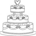 Wedding cake coloring pages
