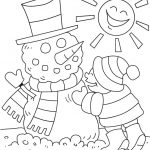 Winter coloring page for preschool