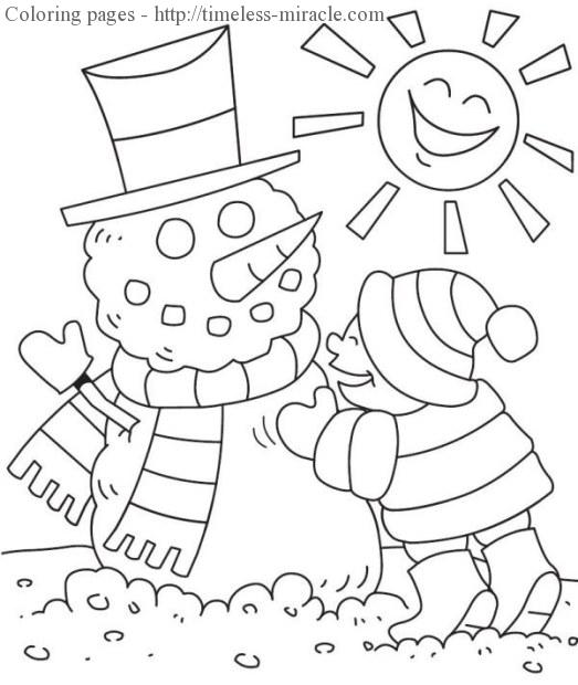 Winter wonderland coloring pages - timeless-miracle.com