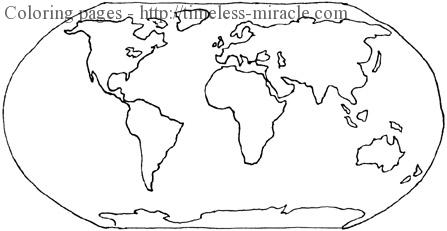 World map coloring page Photo - 3 - timeless-miracle.com