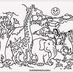 Zoo animals coloring page
