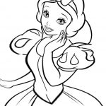 Disney coloring page for girls