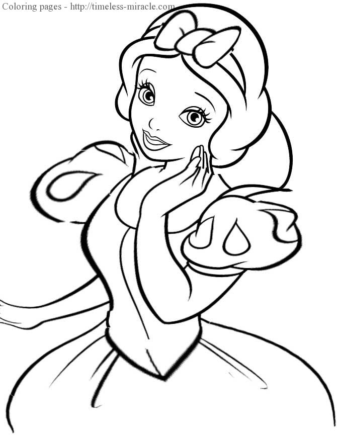 Disney coloring page for girls For girls  coloring page free (printables)