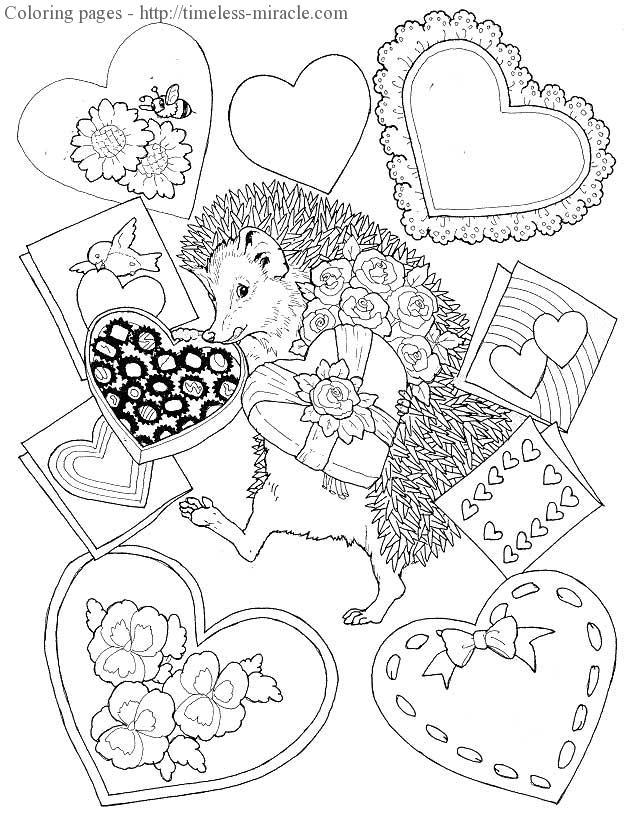 Valentine colour page