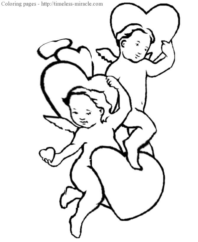 Valentine hearts coloring page Valentines day  coloring page free (printables)